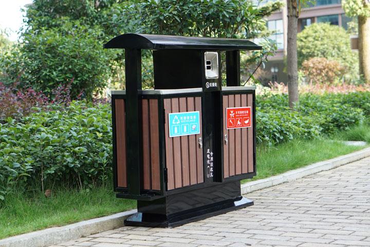 户外垃圾桶 分类果皮箱 金属果皮箱 公园垃圾桶 街道垃圾桶 校园垃圾箱
